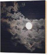 Cotton Moonlight Wood Print