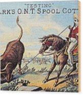 Cotton Thread Trade Card Wood Print