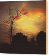 Cottonwood Sunset Wood Print