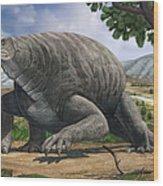 Cotylorhynchus Bransoni, A Prehistoric Wood Print