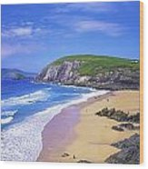 Coumeenoole Beach, Dingle Peninsula, Co Wood Print