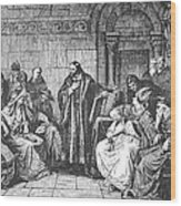 Council Of Constance, 1414 Wood Print by Granger