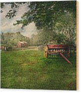 Country - The Crops Almost Ready  Wood Print