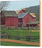 Country Barns Wood Print