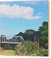 Country Bridge Wood Print