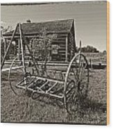 Country Classic Monochrome Wood Print