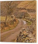 Country Lane Yorkshire Dales Wood Print