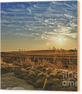 Country Light Wood Print