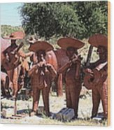 Country Music From Vail Lake Wood Print