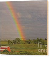 Country Rainbow Wood Print