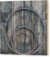 Country Rings Wood Print by Susan Candelario