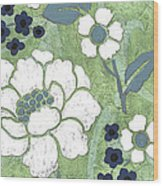 Country Spa Floral 2 Wood Print