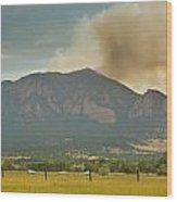 Country View Of The Flagstaff Fire Panorama Wood Print
