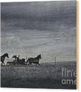 Country Wagon Wood Print