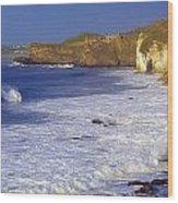 County Antrim, Ireland Seascape With Wood Print