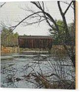 County Covered Bridge Wood Print