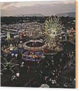 County Fair, Yakima Valley, Rides Wood Print by Sisse Brimberg