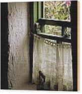 County Kerry, Ireland Cottage Window Wood Print