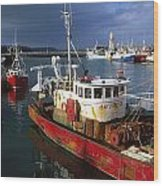 County Waterford, Ireland Fishing Boats Wood Print