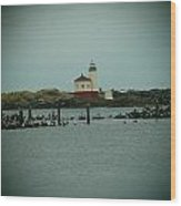 Couquille River Lighthouse  Wood Print
