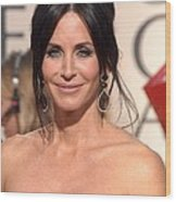 Courteney Cox Wearing Ofira Schwartz Wood Print
