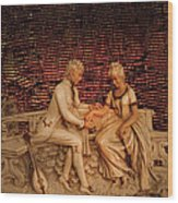 Courting Wood Print