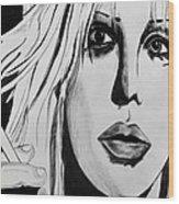 Courtney Love Wood Print