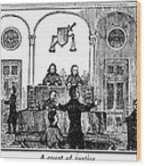 Courtroom, 1842 Wood Print