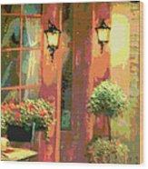 Courtyard Wood Print by David Alvarez