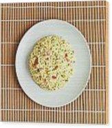 Cous Cous Salad Wood Print