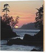 Cove At Sunset Wood Print