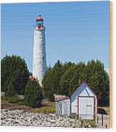 Cove Island Lighthouse Wood Print