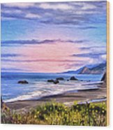 Cove On The Lost Coast Wood Print
