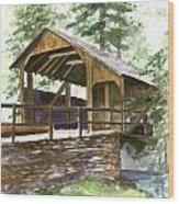 Covered Bridge At Knoebels  Wood Print