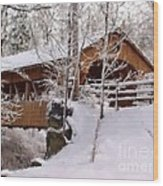 Covered Bridge At Olmsted Falls - 2 Wood Print