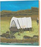 Covered Wagon Wood Print