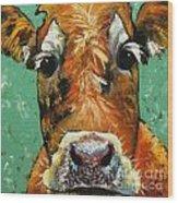 Cow 484 Wood Print