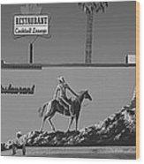 Cowboy Billboard  Wood Print