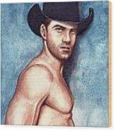 Cowboy Blue Wood Print