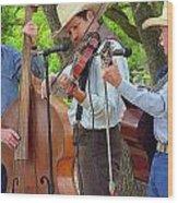 Cowboy Music Wood Print