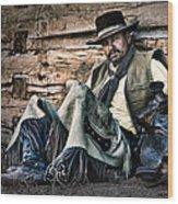 Cowboy Stare-down Wood Print
