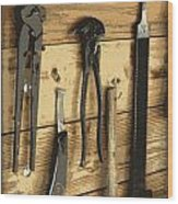 Cowboy's Tools Wood Print