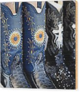 Cowgirl Boots Wood Print