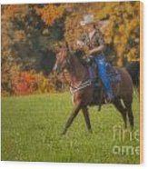 Cowgirl Wood Print by Susan Candelario