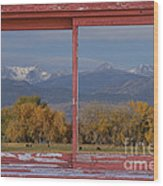 Cows Life Colorado Autumn Rocky Mountains Picture Window Art Wood Print