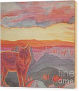 Coyote Cliff Wood Print by Vikki Wicks