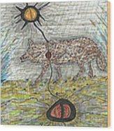 Coyote Spirituality Wood Print