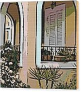 Cozy Arches Wood Print