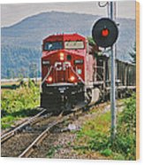 Cp Coal Train And Signal Wood Print
