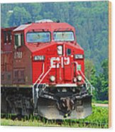Cp Coal Train Wood Print
